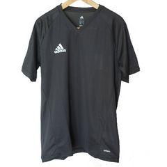 新品◆adidasダークグレートレーニングVネックTシャツ(L)