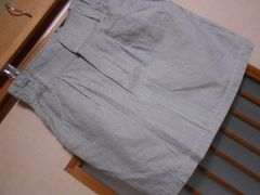 100スタ*ページボーイストライプスカート★クリックポスト164円