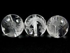 ☆皇帝の五爪龍☆水晶16mmビーズ☆1個