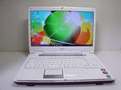 直ぐ使えるWindows10搭載 富士通人気ホワイトノートPC 1スタ
