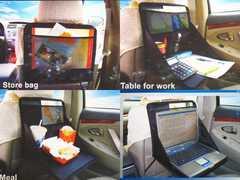 ★車内でお使いください。★収納式マルチファンクションテーブル