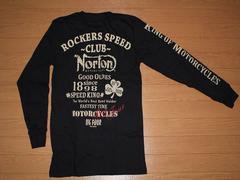 ノートン(NORTON)バイカー系ロングTシャツ XLサイズ 超特価 新品�F