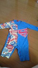 80センチ 子供服 ロンパース スーパーマン