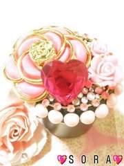 可愛いカメリア.薔薇.高品質ハートデコ灰皿�@