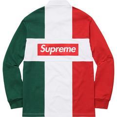 Supreme Split Rugby 赤 Box Logo Tシャツ パーカー