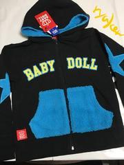 ベビードール新品☆王冠ロゴジャケットパーカー120☆BABYDOLL