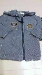 薄手フード付き2wayジャケット90cm
