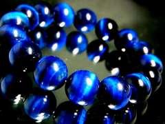 エメラルドブルータイガーアイ12ミリ数珠