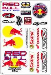 レッドブル(Red Bull)黄/赤白(縦)#010★ステッカー・シート