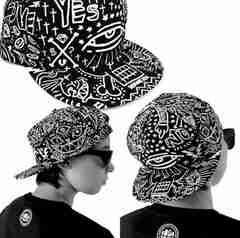 ファンキーデザイン BBキャップ  平らつば 帽子 ユニセックス