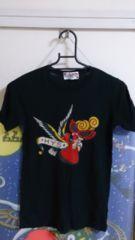 ヒスミニ。半袖黒Tシャツ。140。鳥・ハート