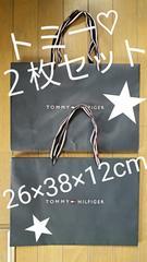 【TOMMY HILFIGER★ショップ袋】#トミー#紺#シンプル#プレゼント