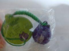 蛙鈴ストラップ(三茄子紫)新品