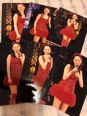 松田聖子コンサート写真?赤ミニドレス6枚set