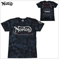 即決新品 NORTON Tシャツ M☆黒ノートン  タイダイ ムラ染め2017