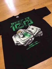 LA直輸入 100keepデザインプリントTシャツサイズ3XL黒ブラック