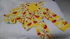 ★くまのプーさん★ボアフリース腹巻★リブ付きパジャマ★サイズ100美品