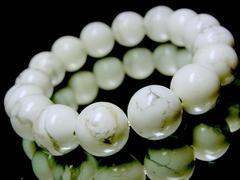 ハウライトホワイトターコイズ§12ミリ§天然石数珠