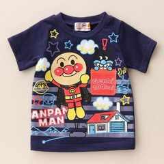 *ANPANMAN*アンパンマン天竺元気100倍Tシャツ*ネイビー*90�a*新品*
