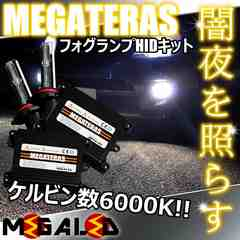 mLED】ノア60後期Sタイプエアロ仕様除/フォグランプHIDキット/HB4/6000K