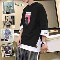 メンズ カジュアル Tシャツ カジュアル 七分Tシャツ18mdt007