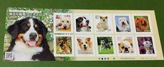 H29.身近な動物シリーズ【第4集】82円切手1シート★犬(シール式)