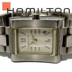 モバオクで買える「良品 1スタ★ハミルトン/HAMILTON 珍しいスクエア腕時計」の画像です。価格は41円になります。