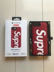 Supreme×Mophie iphone8plus7plus Juice Pack Airシュプリーム