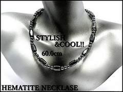50cm/お洒落,魅惑の輝/ヘマタイト/磁気ネックレス/アンクレット,ブレス可/勝利/tc04