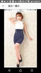 dazzy store 白×ネイビーナイトドレス