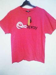Tー78★新品★半袖カラーロゴプリントTシャツ ピンク L