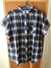 THE EMPORIUM ジ・エンポリアム 半袖チェックシャツ ブルー系