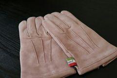 新品★オロビアンコ 手袋 グローブ レディース 羊革 ピンクベージュ