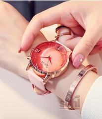 GUOU レディース   腕時計 ウォッチ WG18107 ライトピンク