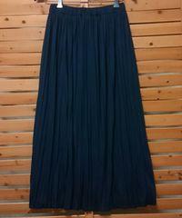 ●Samansa Mos 2●プリーツ スカート 新品 L ネイビー