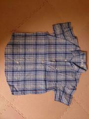 120 BeBe ブルーチェックシャツブラウス 美品