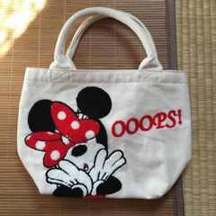 ディズニー・ロゴ&ミニーマウスサガラ刺繍バッグ