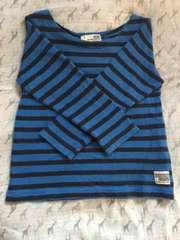 ボーダーロングTシャツ110cm