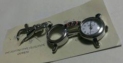 新品未使用☆ルーペ付時計眼鏡型キーホルダー起動確認済み