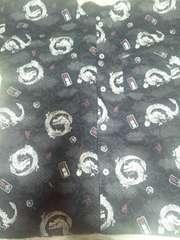 ☆新柄黒×丸龍&若龍漢字文字梵文字和柄ダボシャツ150