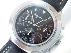 9119/アニエスbSEIKO社ムーブメントクロノグラフモデルメンズ腕時計格安