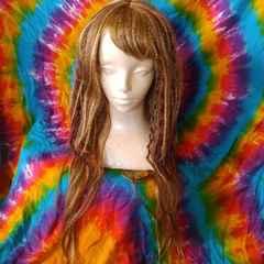 耐熱160℃■前髪付スパイラルミックスロング フルウィッグ