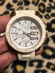 ディーゼル クロノグラフ 腕時計 DZ-5323 電池交換済み