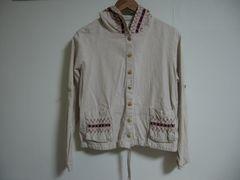 Crisp クリスプ リネン刺繍ジャケット