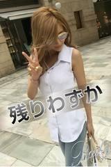 Rady☆鬼くびれ☆ノースリシャツ☆ホワイト☆Mサイズ