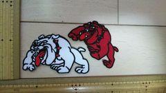 NO.245 アイロンワッペン 刺繍 犬