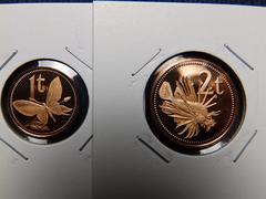 パプアニューギニア 1キナ、20,10,5,2,1トエア 6枚1975年