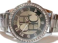 【新品・未使用】RELOGIO 超派手!ジルコニア デカ腕時計 SILVER