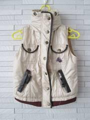 即決/タキヒョー/フード収納マリーちゃん中綿ベストジャケット95