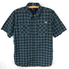 上美品 DC チェックシャツ 半袖  L ~ xL 大きめ  ステッチ